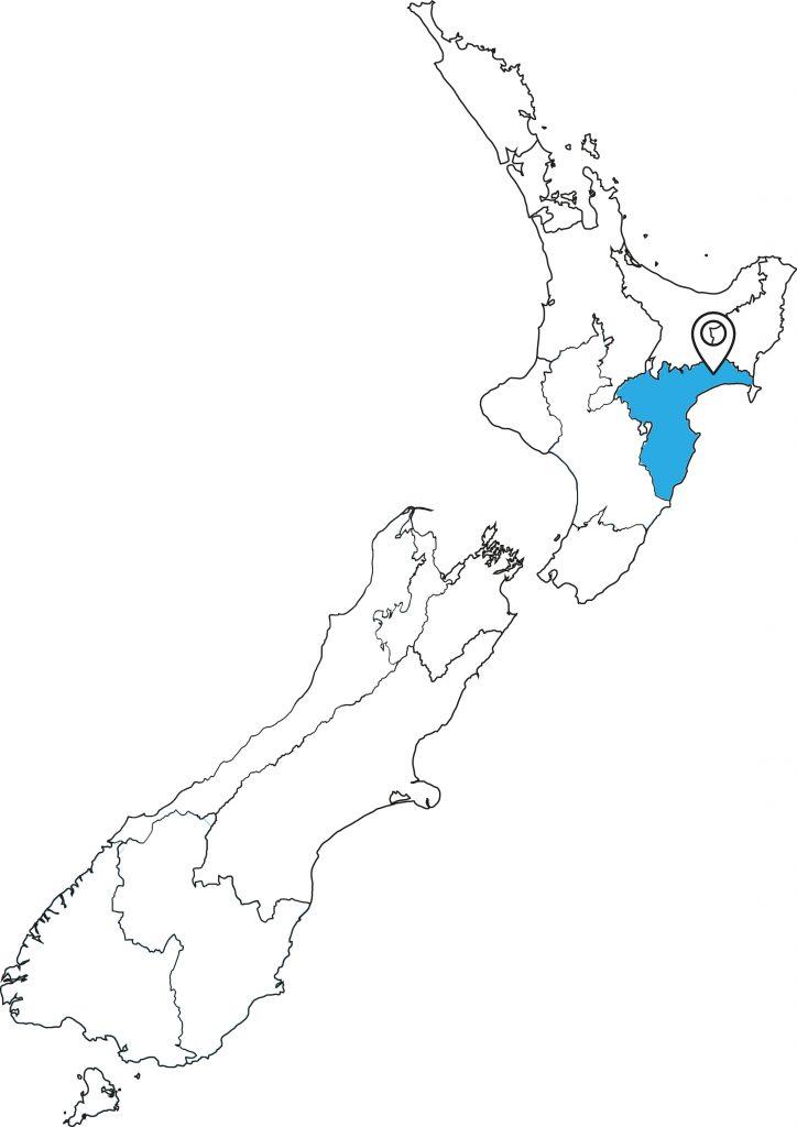 Neuseeland-Karte_Lake-Waikaremoana_Great Walk
