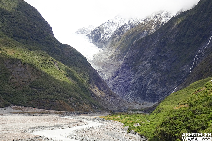 Franz Josef Gletscher auf der Südinsel Neuseelands