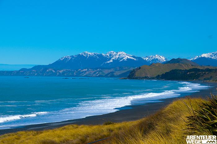Küste bei Kaikoura auf der Südinsel Neuseelands