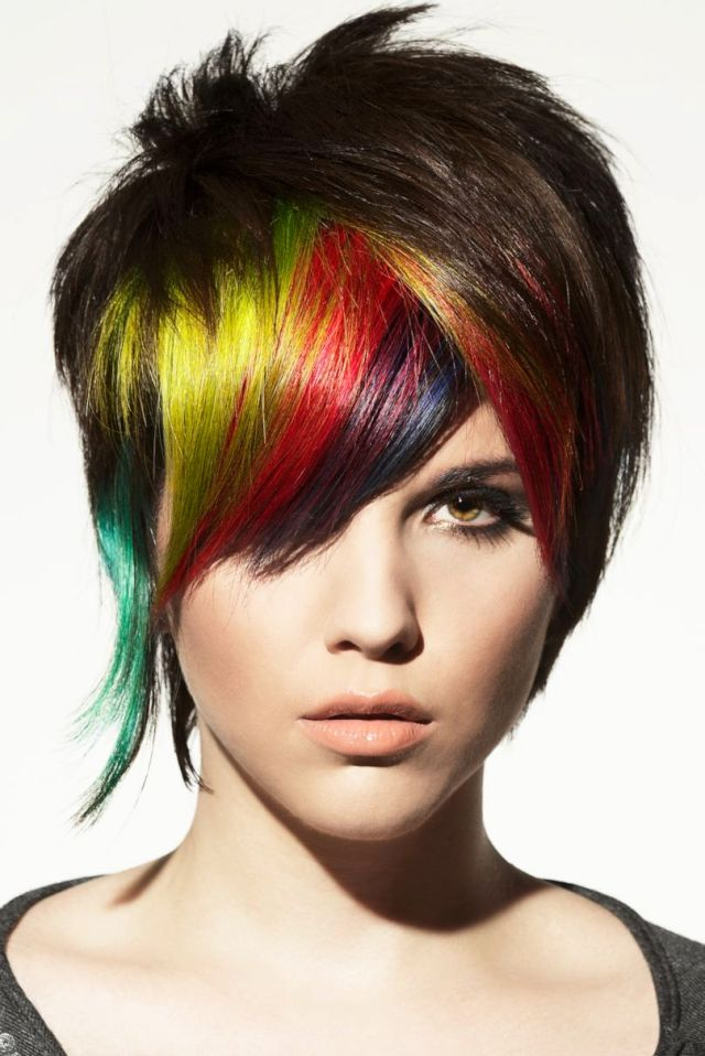 details about rainbow punk hairstyle hair poster hairdresser salon hair cut colour poster