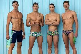 natação e a moda praia masculina