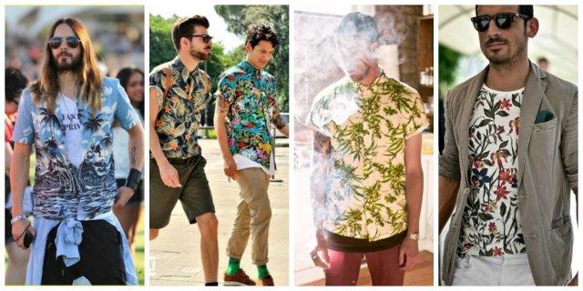 Como a moda praia usa o estilo tropical sunga de praia Aberbeach