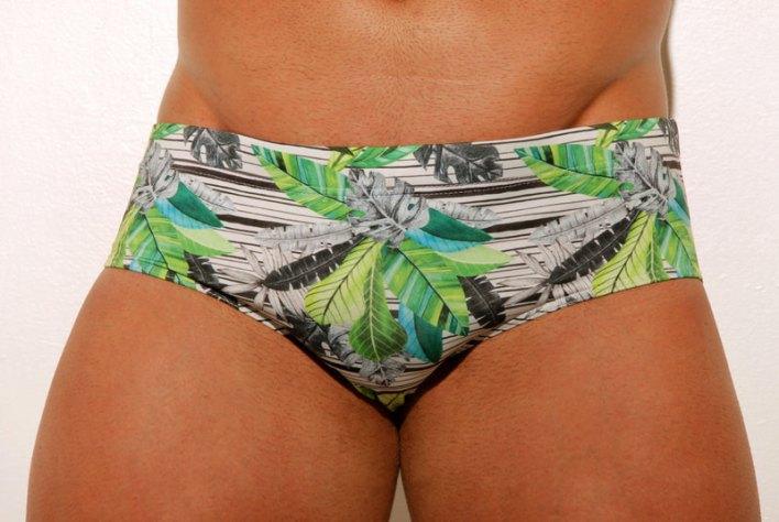 Sunga estampada moda praia masculina