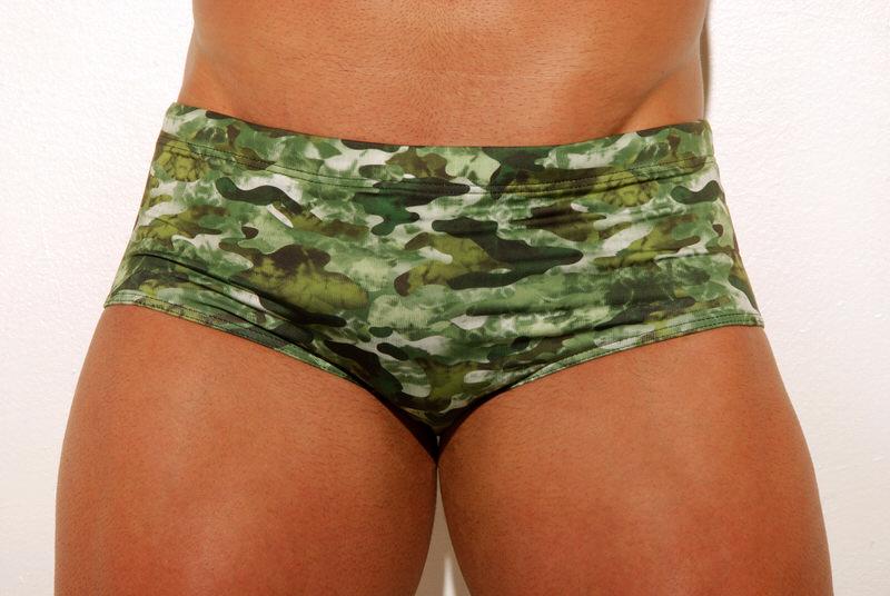 sunga army estampada da aberbeach moda praia masculina