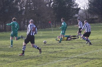 Steven Fraser made good saves early on in the match to keep the score at 0-0