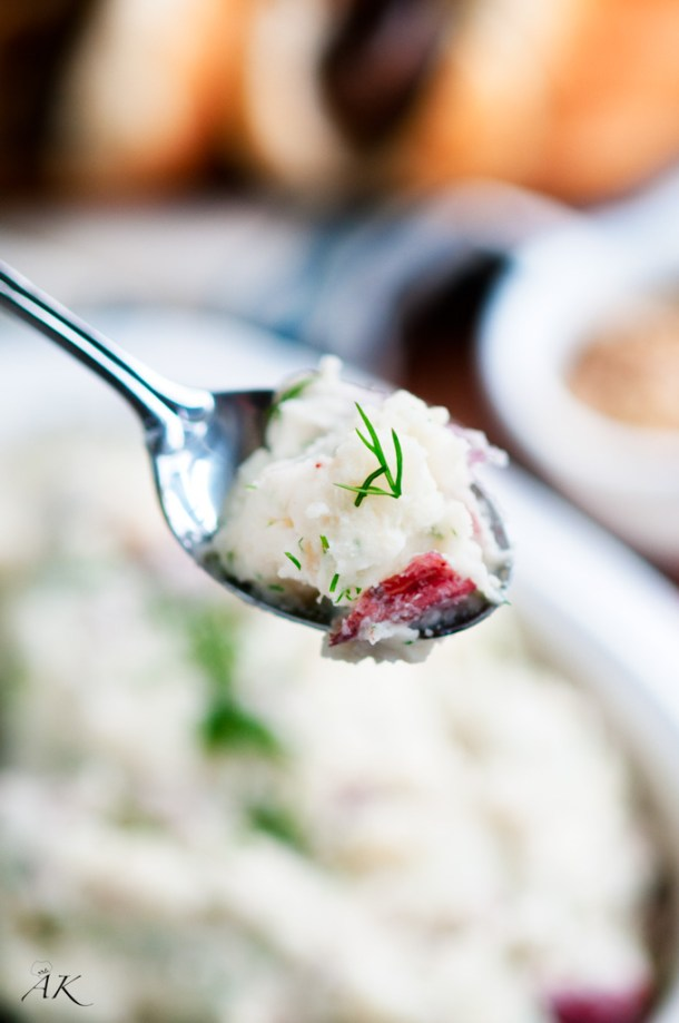 Fresh Dill and Red Potato Salad spoonful