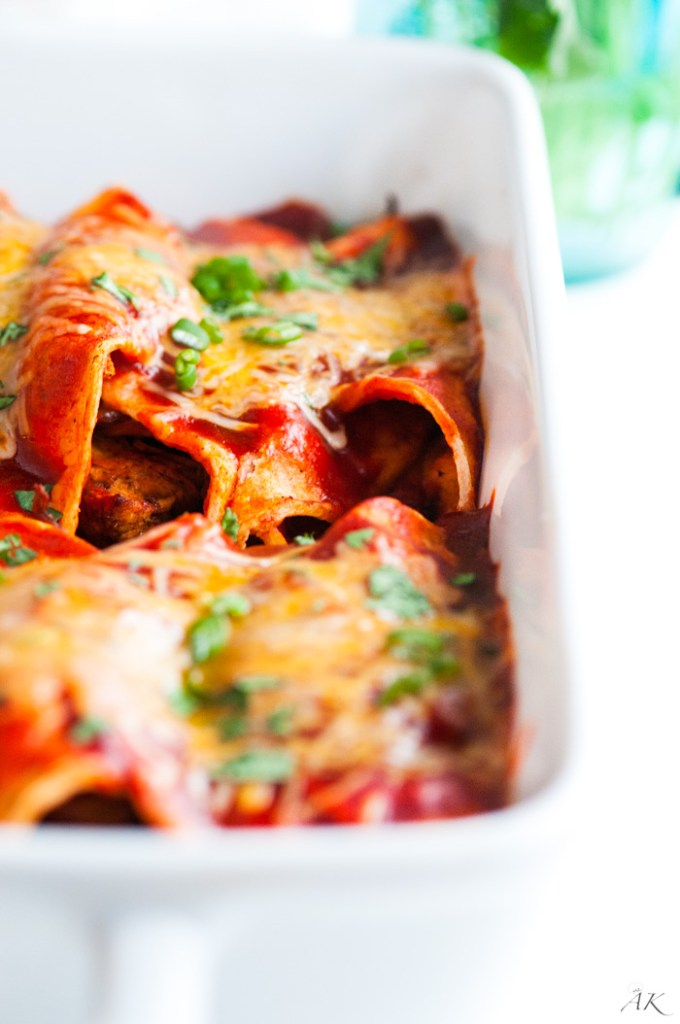 Red Chicken Enchiladas
