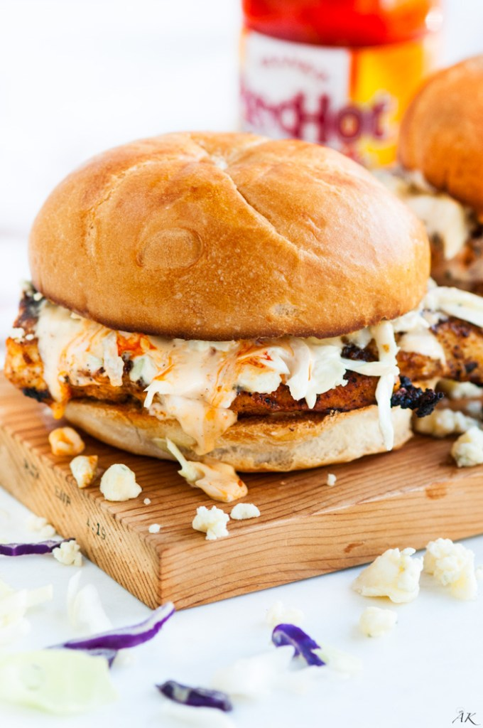 Spicy Buffalo Chicken Sandwiches | aberdeenskitchen.com