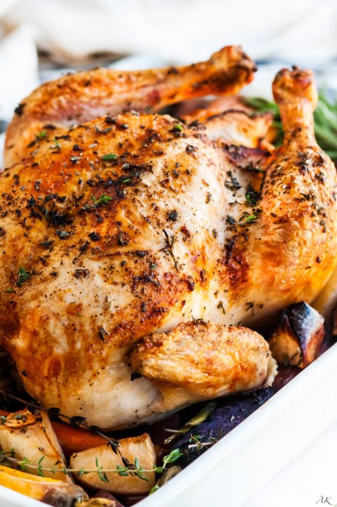 Lemon Roasted Apple Chicken and Veggies   aberdeenskitchen.com