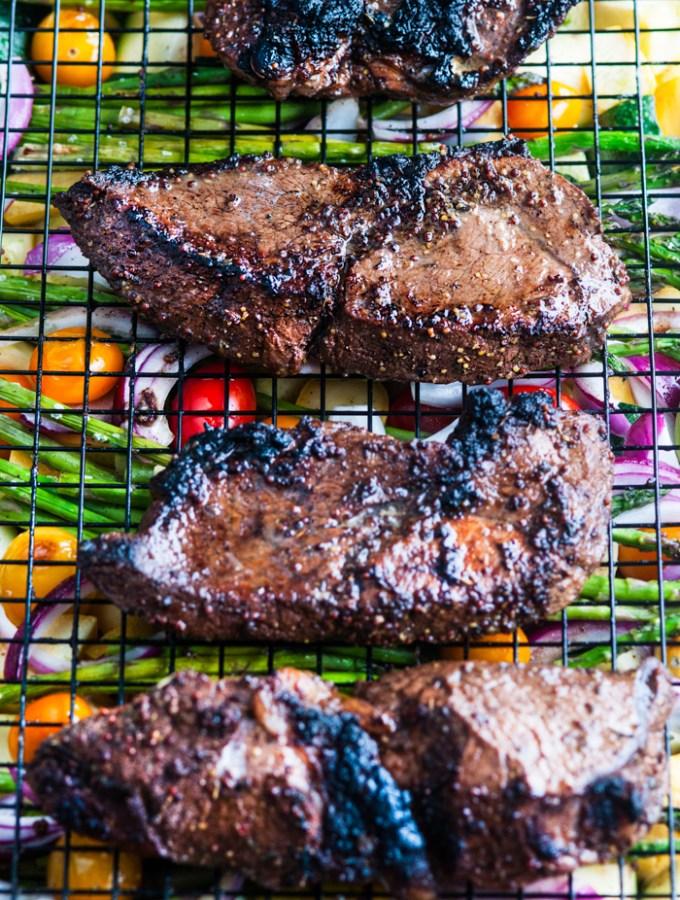 One Pan Balsamic Steak and Veggies