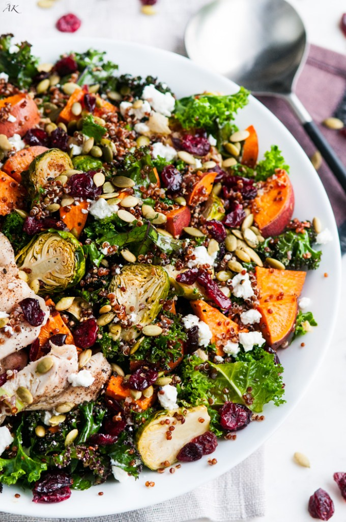roasted brussel sprout and yam quinoa salad aberdeen 39 s kitchen. Black Bedroom Furniture Sets. Home Design Ideas