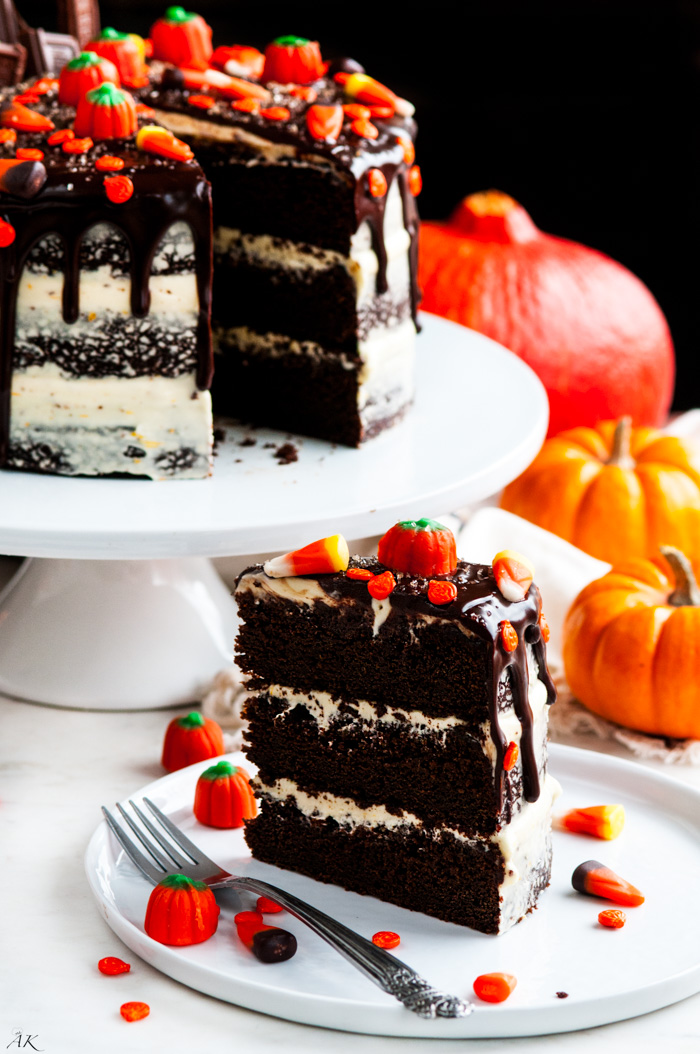 Halloween Chocolate Pumpkin Cake - Aberdeen's Kitchen