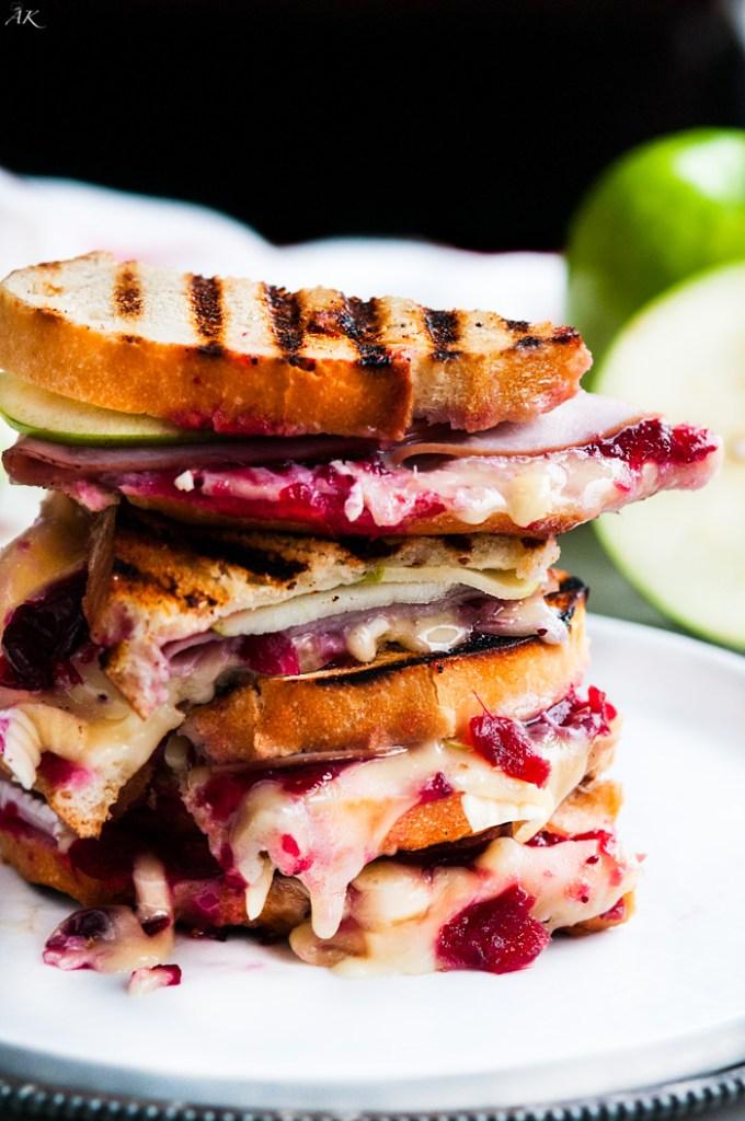 Turkey Cranberry Brie Panini | aberdeenskitchen.com