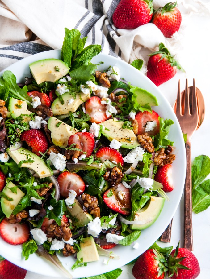 Strawberry Mint Avocado Salad