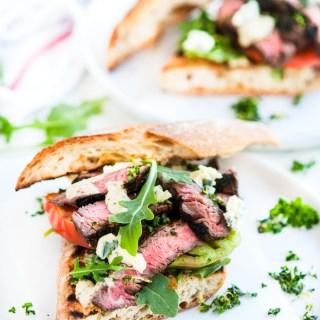 Grilled Balsamic Steak Sandwiches   aberdeenskitchen.com