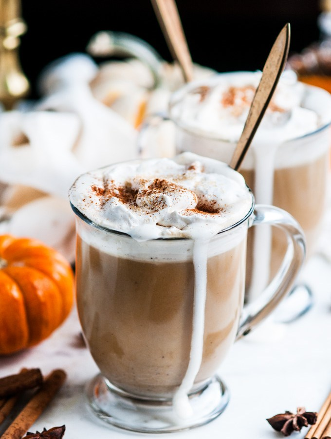 Pumpkin Spice Chai Tea Latte (with real pumpkin!)