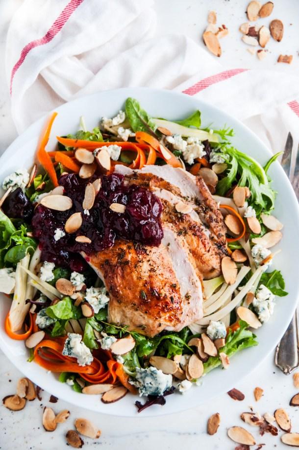 Thanksgiving Leftovers- Turkey Cranberry Salad   aberdeenskitchen.com