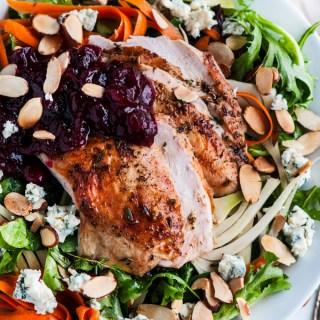 Thanksgiving Leftovers- Turkey Cranberry Salad | aberdeenskitchen.com