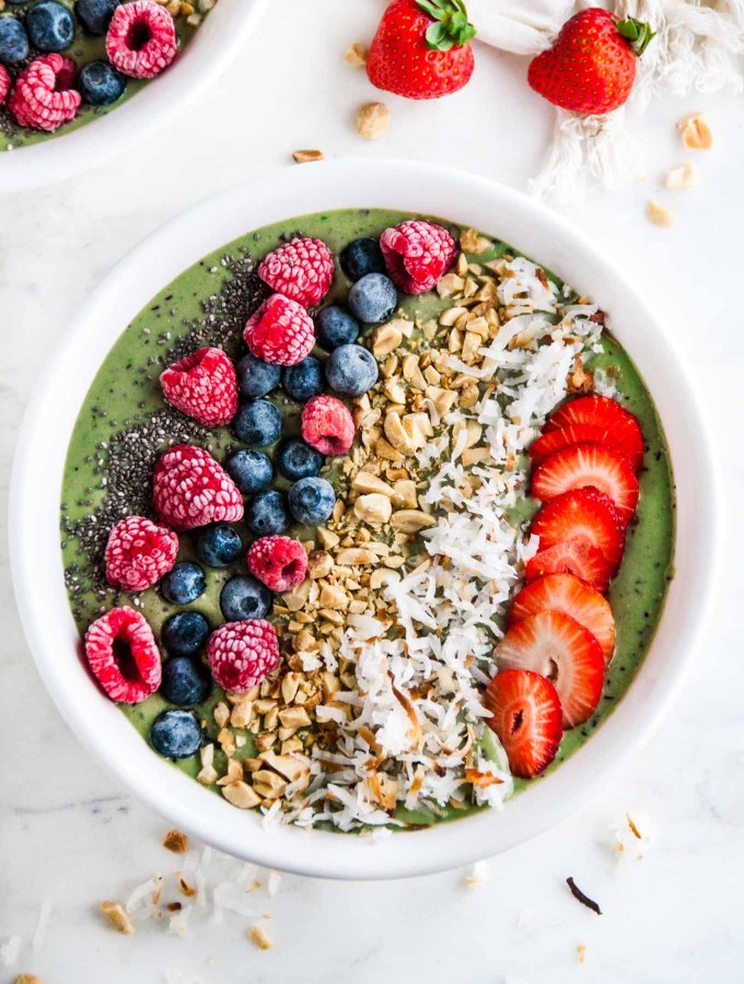 Supercharged Green Smoothie Bowl