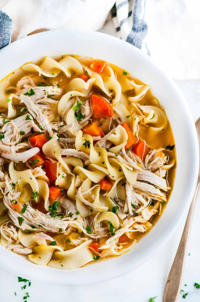 Instant Pot Chicken Noodle Soup   aberdeenskitchen.com