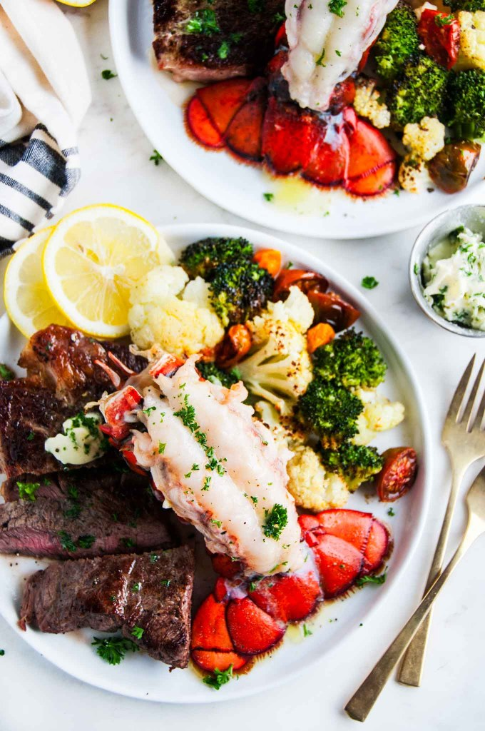 Surf and Turf Steak and Lobster Tail | aberdeenskitchen.com