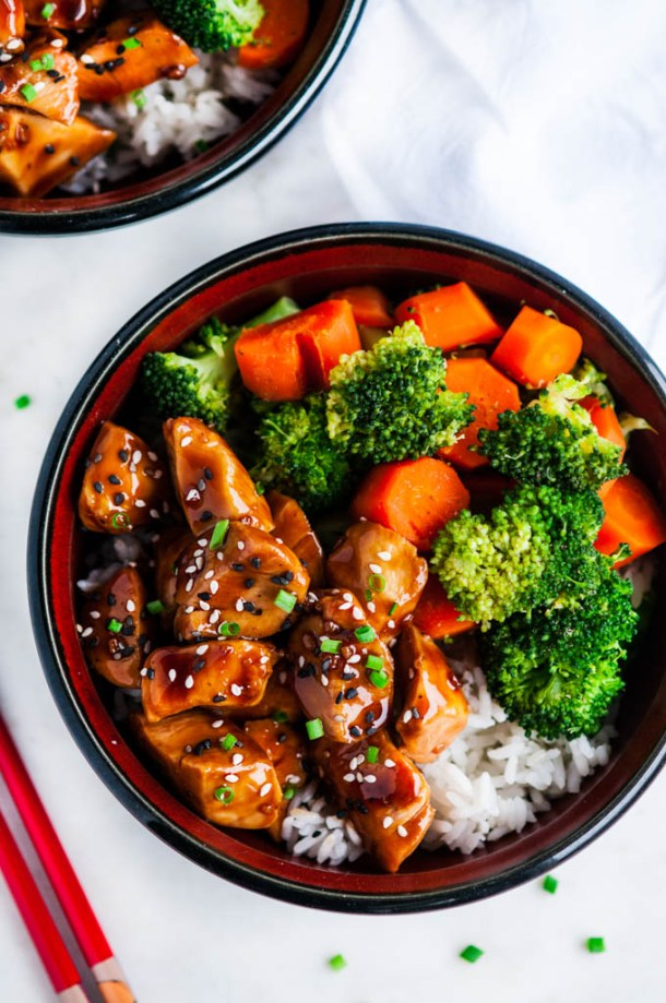 Chicken Teriyaki Bowls with Homemade Sauce