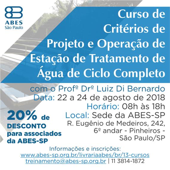 Banner Curso de Critérios de Projeto e Operação de Estação de Tratamento de Água de Ciclo Completo redes sociais - Copia 2