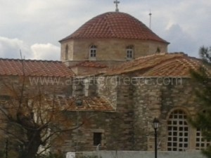 Panayia ekatontapiliani on Paros, Cyclades, Greece