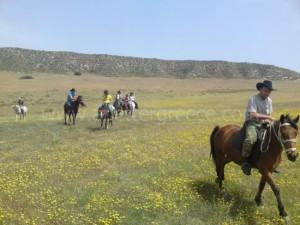 horse riding on Milos Cyclaes, Greece