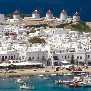 Mykonos island in the Cyclades islands of Greece