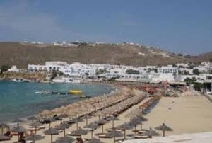Agari beach on Mykonos, Cyclades Greece