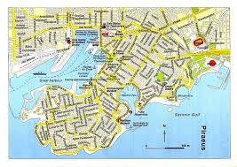 map of Piraeus port, Greece
