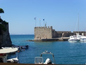 port in Nafpaktos, Greece