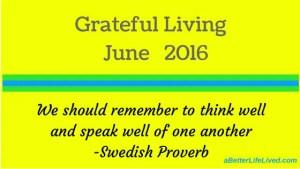 Grateful Living June 2016