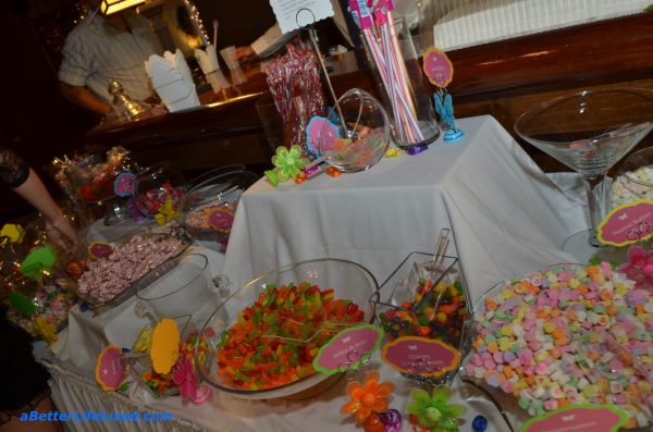 candy buffet, wedding, less stress