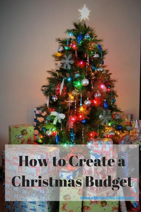 How to create a Christmas budget