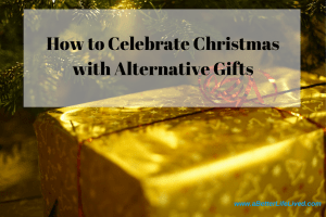How to celebrate Christmas with alternative gifts. Tired of spending a ton of money on useless junk? Consider this idea!