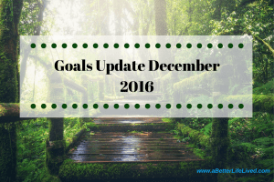 First monthly goals update. See how I've done on my weight loss and financial goals!
