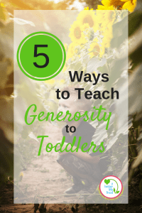 Simple ideas to teach generosity to young kids! So easy!