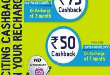 Paytm Videocon DH recharge