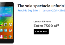 Flipkart lenovo k note  off loot offer