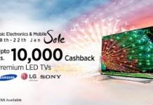 Paytm epic sale upto  cashback on led tvs