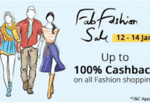 Paytm fab fashion sale offer loot banner