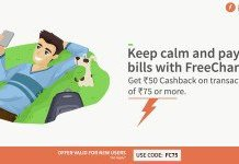 Freecharge Rs  cb on recharge of Rs  new users