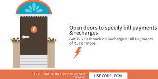 Freecharge rs cashback on recharges FC