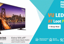 flipkart vu led televisions at loot price deals