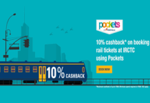 icici pockets  percent cashback at irctc offer