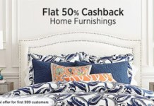 Paytm Buy Home Furnishing Products at upto  off Extra  Cashback
