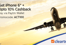 cleartrip paytm ACT cashback offer