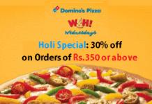 dominos holi special  discount